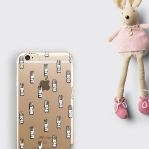 Tiny Cute Rabbits iPhone 11 Clear Case