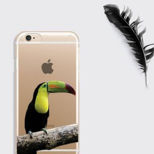 Tropical Bird iPhone 8 Case, Toucan Art Print Samsung S9 Case Gift for Her iPhone X Clear Case