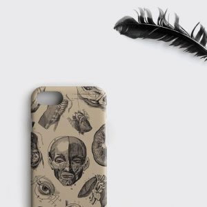 Vintage Anatomy iPhone XS Case, Human Anatomy Samsung Galaxy S9 Plus Cover iPhone XR Case iPhone 8 Plus Phone Cover