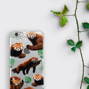 Red Panda iPhone XS Case Cute Panda Samsung Galaxy S9 Plus Phone Cover Kawaii Animal Lover Gift iPhone 8 Case